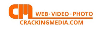 cracking media description logo